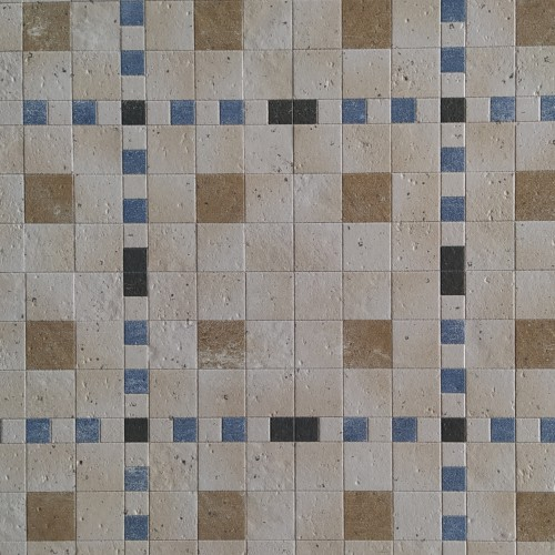 Керамогранит мультиколор mosaica мат. 45,5*45,5